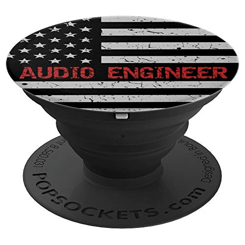 American Audio Engineer USA Flag Pop Socket - PopSockets Grip and Stand for Phones and Tablets