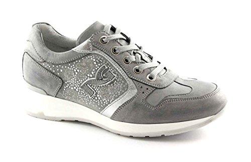 zapatillas deportiva 15092 diamantes deporte JARDINES zapatos de Grigio grises NEGRO cordones imitación de de FqnPIpxwW