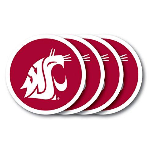 NCAA Washington State Cougars Vinyl Coaster Set (Pack of 4)