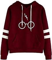 Blusa Moletom Unissex Canguru Óculos Harry Potter C/Listras