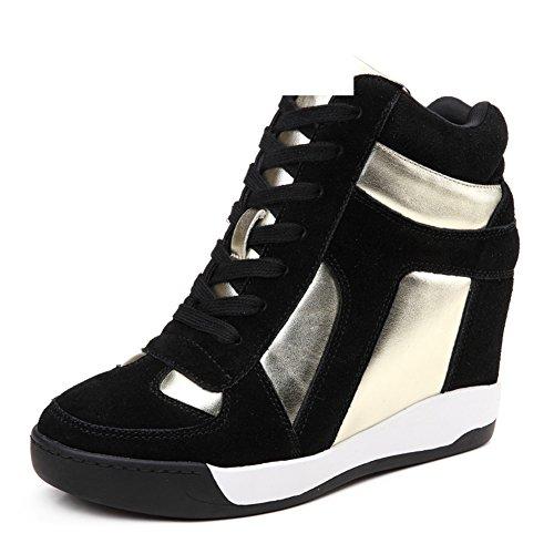 Primavera zapatos de cuero de alta/Zapatos altos de plataforma/Zapatos de la ola coreana/zapatos casuales/Zapatos de mujer B