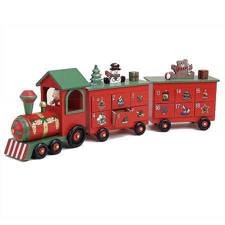 Xxl Wooden Train Advent Calendar Steam Train Solid Wood 60 Cm With