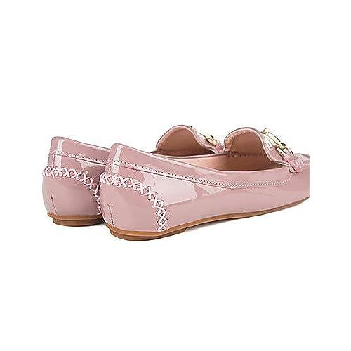 3609b61ddf4f PDX femme Chaussures Talon Plat Confort Bout carré Bout fermé Chaussures  plates décontracté