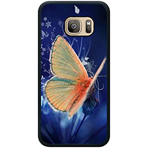 Minffc Unique With Beautiful Orange Butterfly Stop At The Flowers Protective Case Cover For Samsung Galaxy S7 Sales