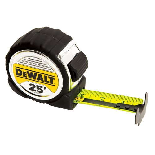 DEWALT DWHT33385L 1 1/4-Inch x 25-Foot Short Tape, 13-Foot Stand Out