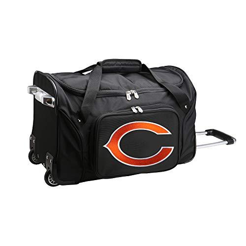 Bears Duffle - NFL Chicago Bears Wheeled Duffle Bag, 22 x 12 x 5.5, Black