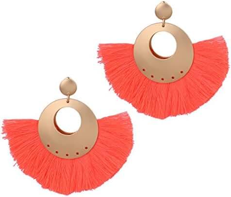 Big Stud Earrings Tassel Drop Earrings for Women