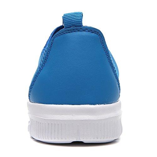 COMA WELMEE Breathable Bequeme Turnschuhe der Männer Leichte Wasser-Schuhe beiläufige Beleg-Auf Müßiggänger-Tennis-gehende laufende Schuhe Blau
