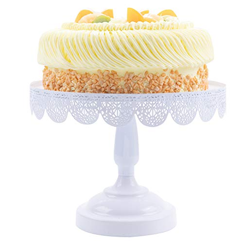 Round Cake Stand Lace Cake Plate Metal Dessert Stand Cake Holder with Stand Cupcake Stands Display Serving Platter Cake Cupcake Pedestal Plate for Cakes Cupcake Bread Fruit Candies Home Decor