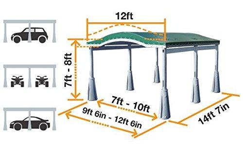 GoPort 2-Module Portable Carport - Outdoor Shelter by GoPort