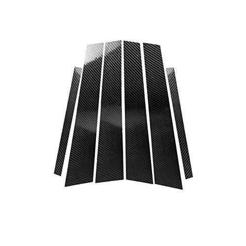 Carbon Fiber Door Window B+C Pillar Post Frame Decal Cover Trim for BMW 3er 3 Series F30 F31 F34 318 328 320 325 330 2011-2018 01 ()