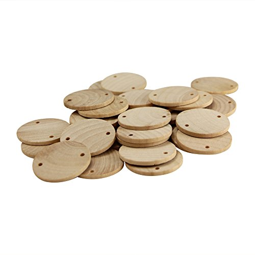 Package of 100-1-1/2 Inch Wooden Birthday Board Tags Circles by Woodpeckers