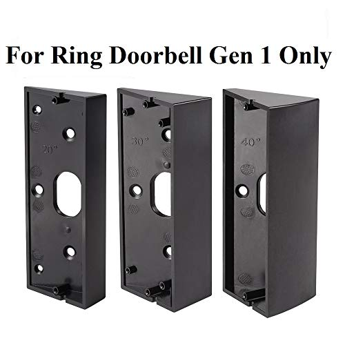 3x Adjustable(20 to 50 Degree) Ring Doorbell Pro Adapter Mounting Wedge Kit Ring Video Doorbell Pro Corner Kit Angle Adjustment Bracket(Not for Gen ()