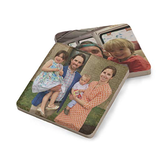 Personalized Photo Stone Coasters | Your Custom Image | Set of 2