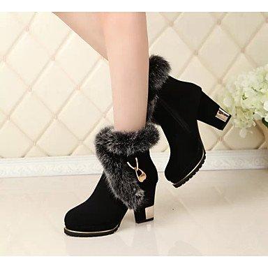 RTRY Zapatos De Mujer Otoño Invierno Tejido Confort Botas De Tacón Chunky Botines/Botines For Casual Negro Us8 / Ue39 / Uk6 / Cn39 US7.5 / EU38 / UK5.5 / CN38