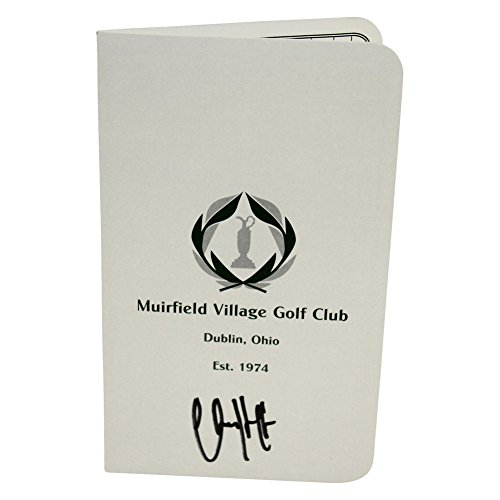 Charley Hoffman Autographed The Memorial Tournament at Muirfield Score Card - Certified Authentic