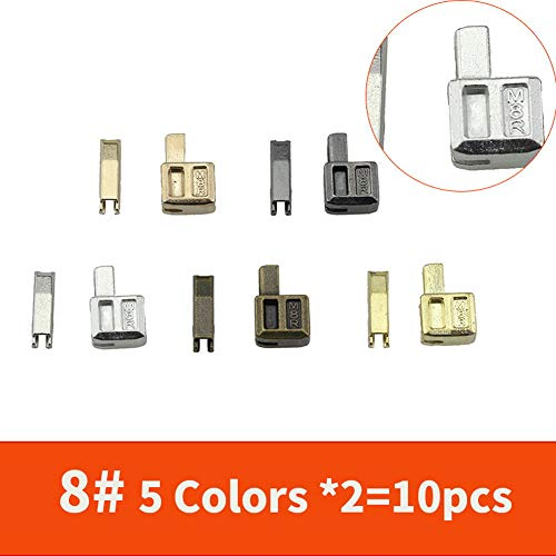 Metal Zipper Repair Stopper #3#5#8#10 Tailor Double Sliders Open End for Zip Sewing Replacement DIY (Open- End #8)
