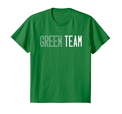 Kids Green Team T-shirt Competition Sports Games Event Camp Color 6 Kelly - Carnival Shirts Camp