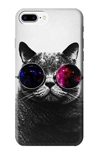 R3054 Cool Cat Glasses Case Cover For IPhone 8 Plus
