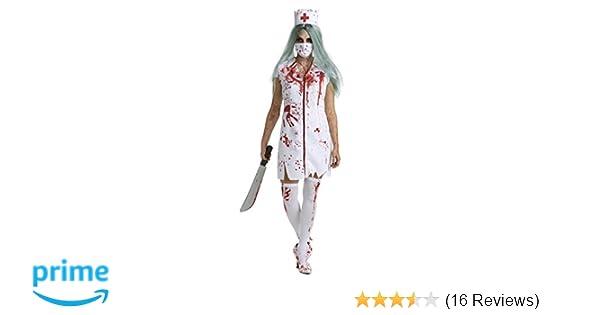 Amazon Com Womens Zombie Nurse Costume Adult Bloody Sexy Horror