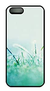 iPhone 5s Case, iPhone 5s Cases - Morning dew grass PC Polycarbonate Hard Case Back Cover for iPhone 5s¨CBlack