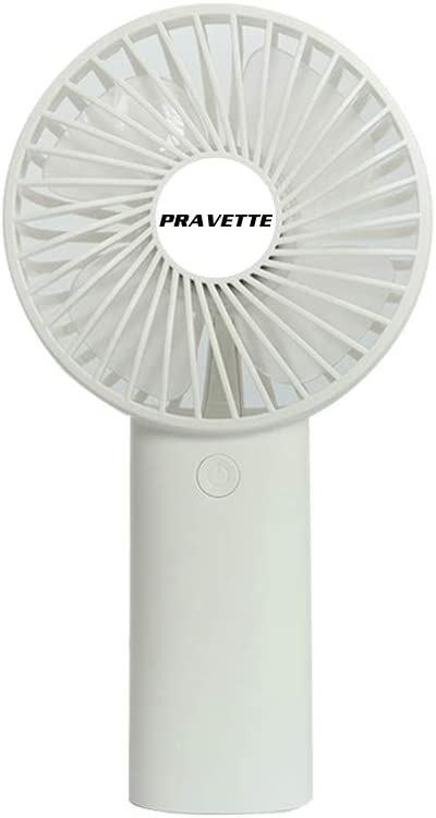 Portable Handheld Fan, USB 4000mAH Rechargeable Batteries, 8-18 Hours Working Time, 3 Speed Settings for Office Home Outdoor Travel (White)