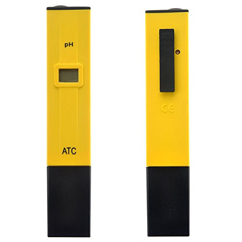 Pixnor PH Tester PH-009 Digital pH Meter - With 2 Pack of Calibration Solution Mixture by PIXNOR