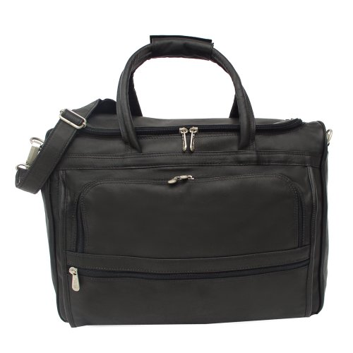 Piel Leather Computer Carry-All Bag, Black, One Size