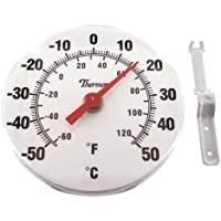 Thermor/Bios 6-Inch Dial Thermometer, Black & White