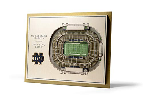 NCAA Notre Dame Fighting Irish 5-Layer Stadiumviews 3D Wall Art