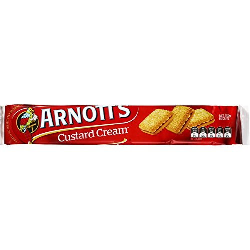 - Arnotts Custard Cream Biscuits 250g (Australian Made)
