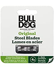 Bulldog Skincare Orignal Razor Blade Refills, Five Blade Razor for Men, NEW VERSION, 4 count