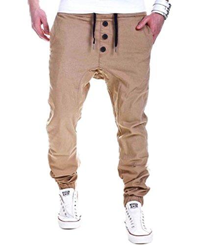 Wholesale SportsX Men's Long Pants Harem Jogger Halter Mulit Color Casual Trousers for cheap