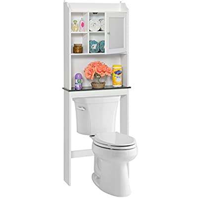 Best Choice Products Bathroom Over-the-Toilet Space Saver Storage Cabinet