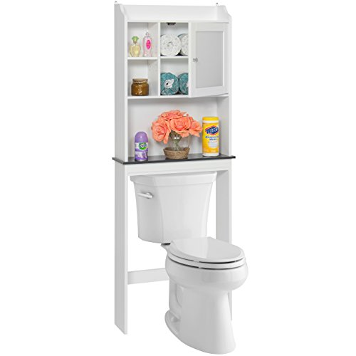 Best Choice Products Bathroom Over-the-Toilet Space Saver Storage Cabinet- White (Space Over White Saver Bathroom Toilet)