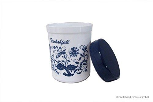 Tischabfallbehälter mit Deckel und Zwiebelmuster, Sonja-PLASTIC, Made in Germany