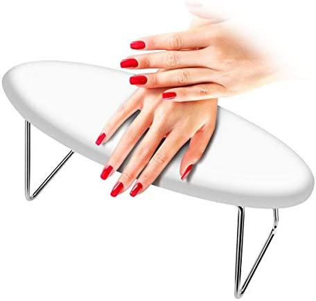 Laelr Nail Arm Rest, Waterproof Wear-Resistant Manicure Hand Pillow Microfiber Leather Detachable Table Desk Nail Rest Cushion Pad Stand Holder for Nail Technician Use