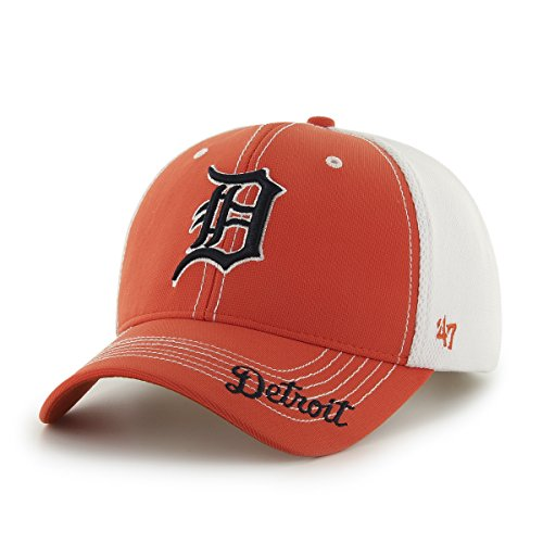 ('47 MLB Detroit Tigers Flux Mesh Adjustable Hat, One Size, Orange)