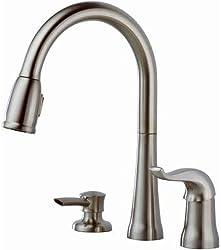 Kate 16970 SSSD DST- Single-Handle Kitchen Sink Faucet