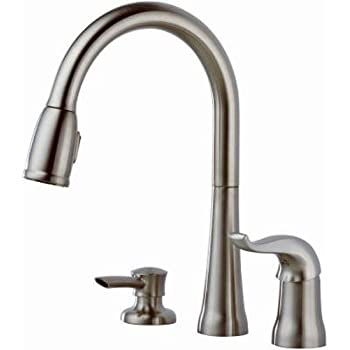 Delta 16970 SSSD DST Single Handle Pull Down Kitchen Faucet With Soap  Dispenser