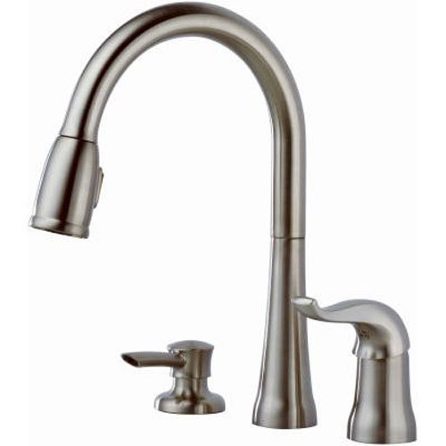 Delta 16970-SSSD-DST Single Handle Pull-Down Kitchen Faucet with Soap Dispenser, Stainless