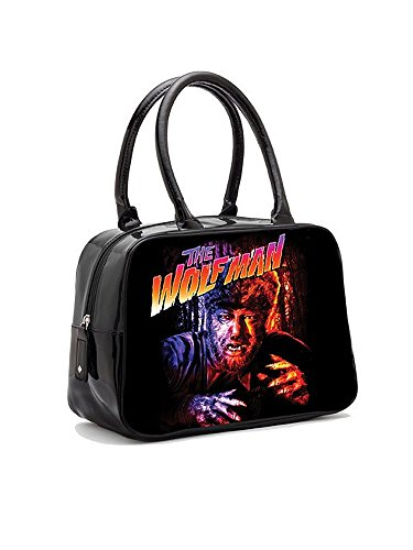 Rock Rebel Wolfman in Color Vintage Bowler Handbag
