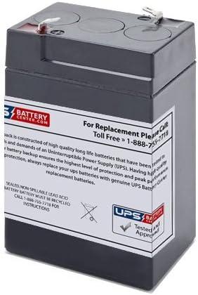 Lithonia ELB06042 Battery 6V, 4.5Ah, 4500mAh, F1 Terminal, AGM, SLA Replacement UB645 Universal Sealed Lead Acid Battery