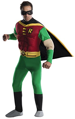 DC Comics Deluxe Muscle Chest Robin Adult Costume, Large -