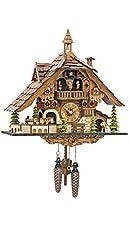 Quartz Cuckoo Clock Black Forest House w...
