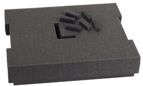 Bosch Foam-201 Pre-Cut Foam Insert 136 for use with L-Boxx2, Part of Click and Go Mobile Transport System - Cut Foam Insert