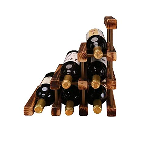 (Waitousanqi 6 Bottles of Solid Wood Wine Rack Kitchen Display Rack Collection Rack / L32cm × W26cm × H32cm q45)