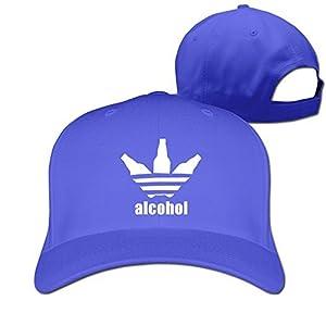 Custom Geek Unisex-Adult Alcohol Beer Bottle Baseball Cap Hat RoyalBlue