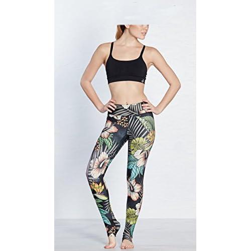 Erica Usine de sport de femmes imprimées Athletic Gym Leggings Mid taille Workout Fitness Yoga Pants