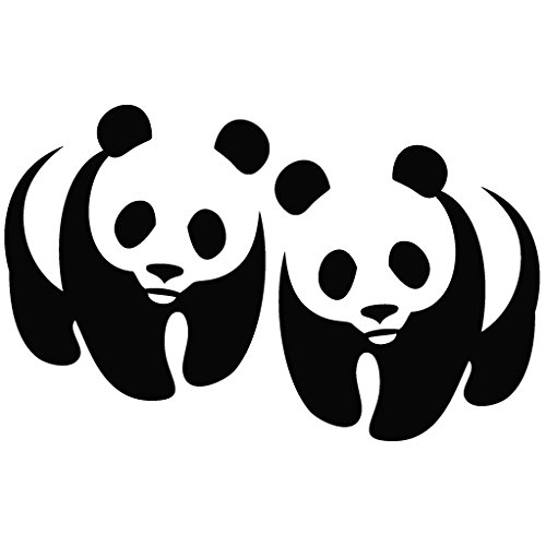 Panda WWF Logo Mirror - Animal Decal Vinyl Removable Decorative Sticker for Wall Car Ipad Macbook Laptop Bike Helmet Small Appliances Music Instruments Motorcycle Suitcase